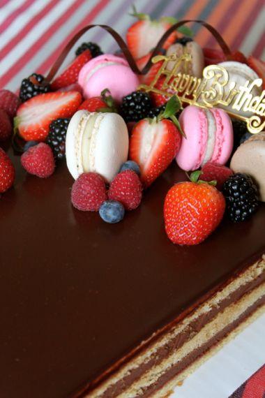 ショコラガナッシュのケーキ