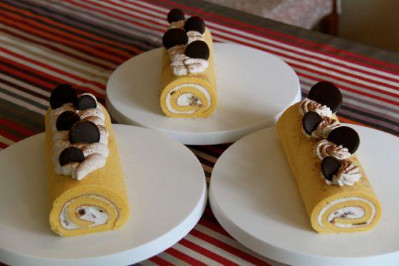 栗のロールケーキ教室