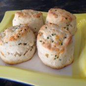 Bon Appétit!  Lesson Participants' Baking Scenes Cheddar&ChiveでSavory Scone