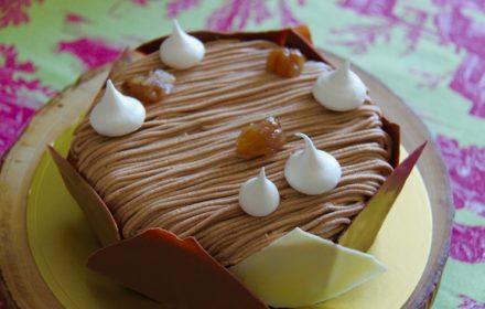 Gateau Mont Blanc Chocolat Lait